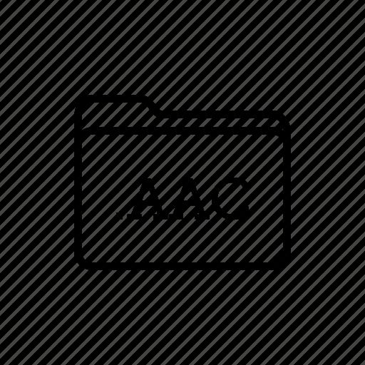 aac file, application, files, filetype, folder, folders icon