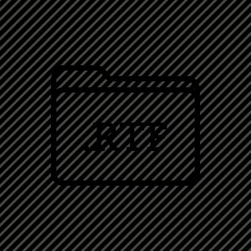 .rtf, application, files, filetype, folder, folders, text files icon