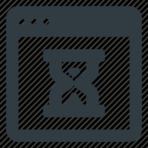 app, application, hourglass, loading, wait icon