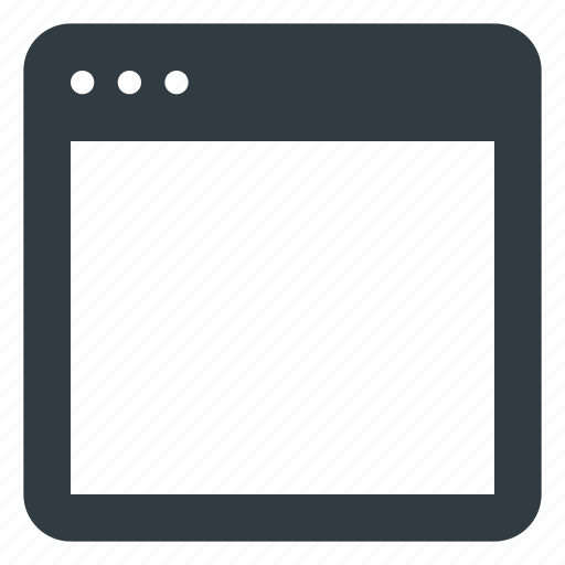 app application blank page screen icon