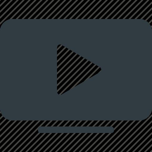 tv, youtube icon