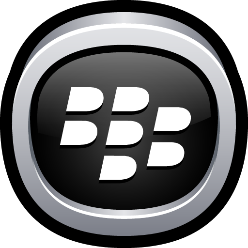blackberry, phone, social icon