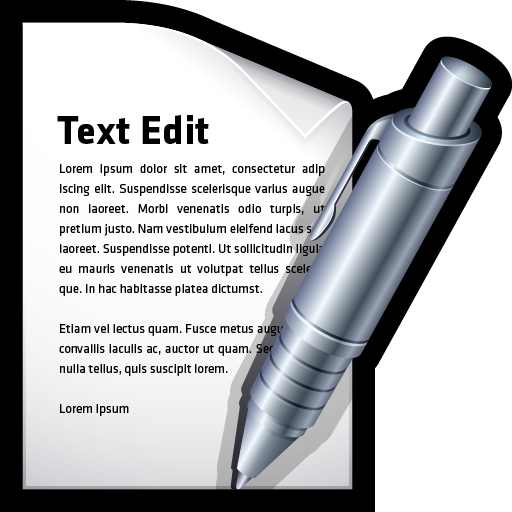 edit, mac, text, word, write icon
