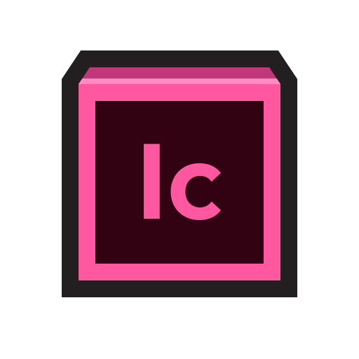 adobe, incopy, indesign, word processing, write icon