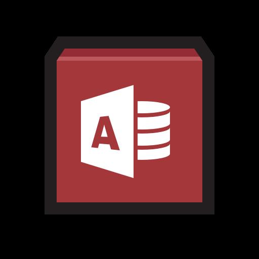 access, base, database, library, microsoft icon