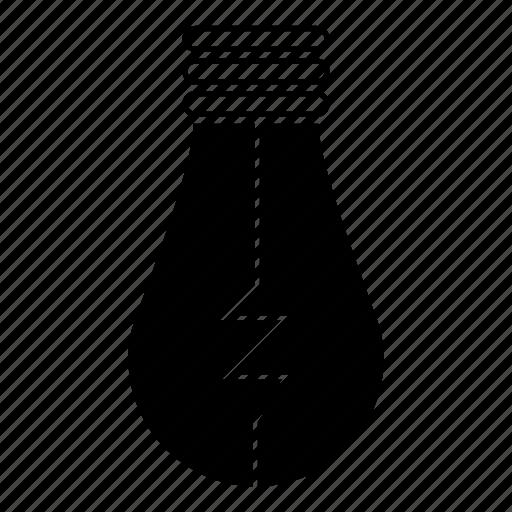 bulb, creative, electricity, idea, illuminate, light, power icon