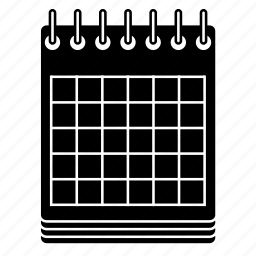 calendar, grid, notepad, notes, pad, paper, schedule icon