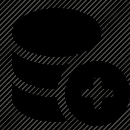add, applications, base, data, database, programming icon