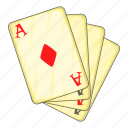 ace, card, cartoon, casino, play, playing, poker icon