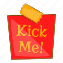 cartoon, cheerful, comedian, comedy, joke, kick, me icon