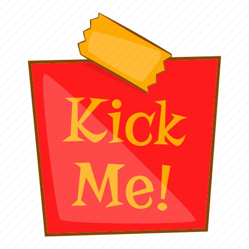 Cartoon, cheerful, comedian, comedy, joke, kick, me icon - Download on Iconfinder