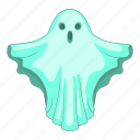 blue, cartoon, dark, fun, ghost, halloween, spooky icon