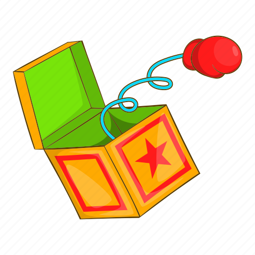box, boxing, cartoon, glove, hand, spring, surprise icon