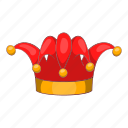 cartoon, circus, clown, day, funny, hat, jester icon