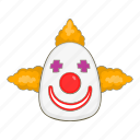 cartoon, clown, colorful, face, fun, joker, laughing icon