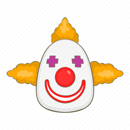 Cartoon, clown, colorful, face, fun, joker, laughing icon - Download on Iconfinder