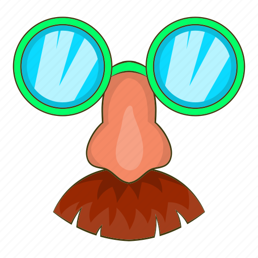cartoon, classic, disguise, glasses, mask, mustache, nose icon