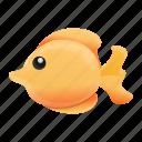 gold, beach, fish, aquarium, water icon