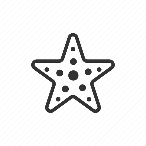 sea star, star, starfish icon