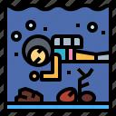 aquarium, diver, scuba, zoo icon