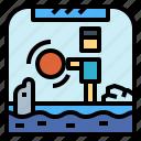 aquarium, show, stage, zoo icon