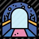 aquarium, fish, glass, tunnel icon