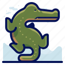 aligator, animals, aquatic, crocodile, nautical, ocean, wildlife icon
