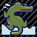 aligator, animals, aquatic, crocodile, nautical, ocean, wildlife icon