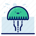 animals, aquatic, jellyfish, nautical, ocean, wildlife icon