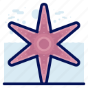 animals, aquatic, nautical, ocean, starfish, wildlife icon