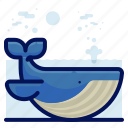 animals, aquatic, nautical, ocean, whale, wildlife icon