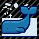 animals, aquatic, nautical, ocean, whale, wildlife icon