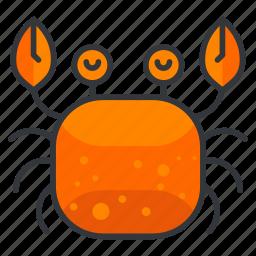 animal, aquatic, crab, marine, nautical, sea, seafood icon