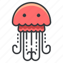 animal, aquatic, jellyfish, marine, nautical, ocean, sea icon