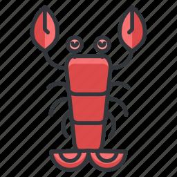 animal, aquatic, lobster, marine, nautical, sea, seafood icon