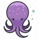 animal, aquatic, marine, nautical, ocean, octopus, sea icon