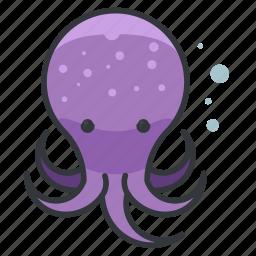 animal, aquatic, marine, nautical, ocean, octopus, sea icon