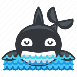 animal, aquatic, marine, nautical, ocean, orca, sea icon