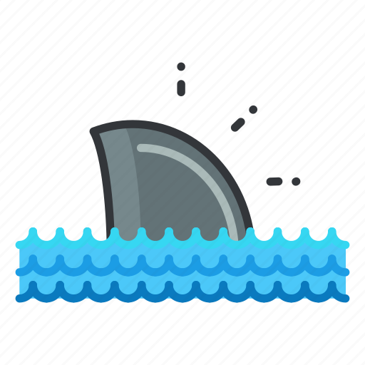 animal, aquatic, marine, nautical, sea, shark, sighting icon