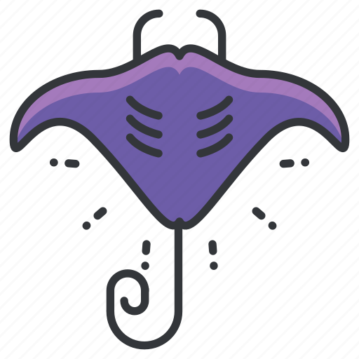 animal, aquatic, marine, nautical, ocean, sea, stingray icon