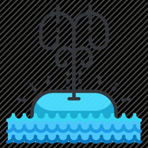 animal, aquatic, marine, nautical, sea, sighting, whale icon