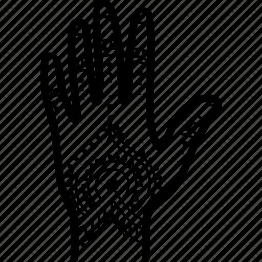 hand, henna, mehndi, tattoo icon
