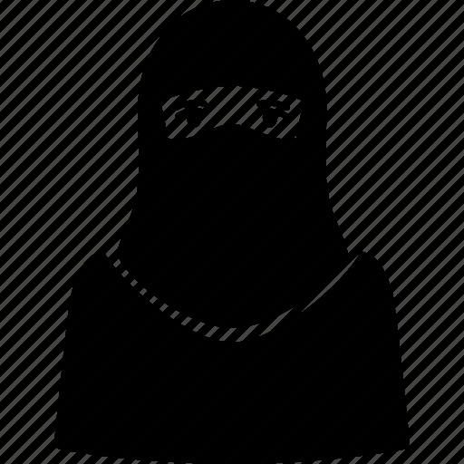 arab, arabian, kofiyah, kufie, muslim, religion, woman icon