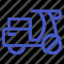 holiday, motorcycle, transportation, travel, vehicle, vespa icon