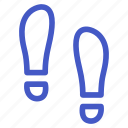 food, footprint, footstep, holiday, step, travel icon