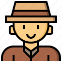 archeologist, avatar, cultures, jobs, occupation, profession icon