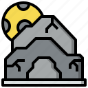 cave, landscape, mountain, nature, rocks, shelter icon