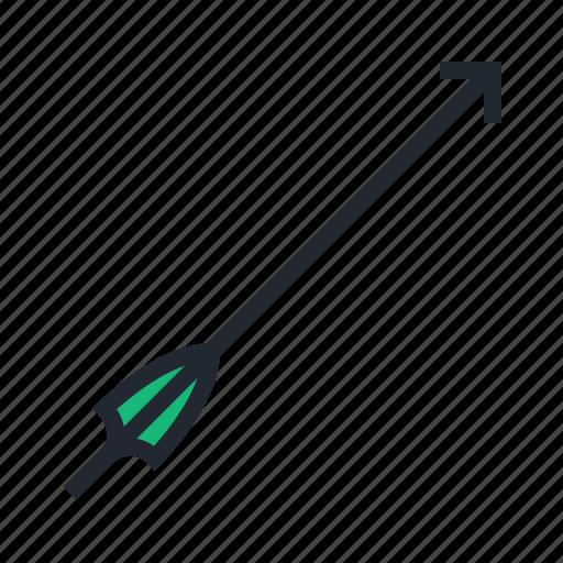 archery, arrow, green, sport icon