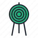 archery, arrow, green, sport, target icon