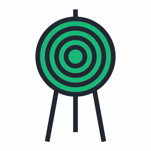 archery, arrow, green, sport, target icon